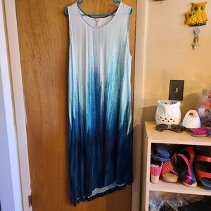 Soma diagonal hem maxi dress
